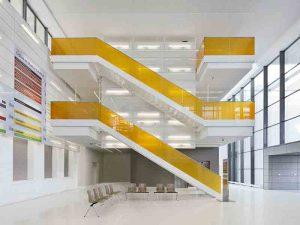 Image de plan du futur escalier intérieur du futur centre hospitalier de Roanne, Korell économiste de la construction