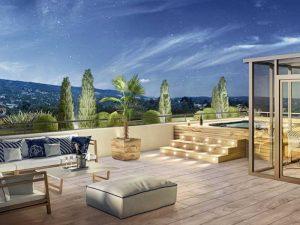 Pplan terrasse - Immobiler de luxe Comme une excellence à Caluire-et-Cuire, Korell économiste de la construction