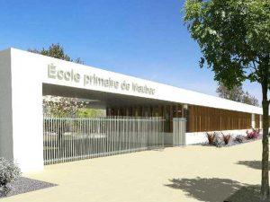 Phoot de la façade de l'école primaire Maubec de Montélimar, Korell DET