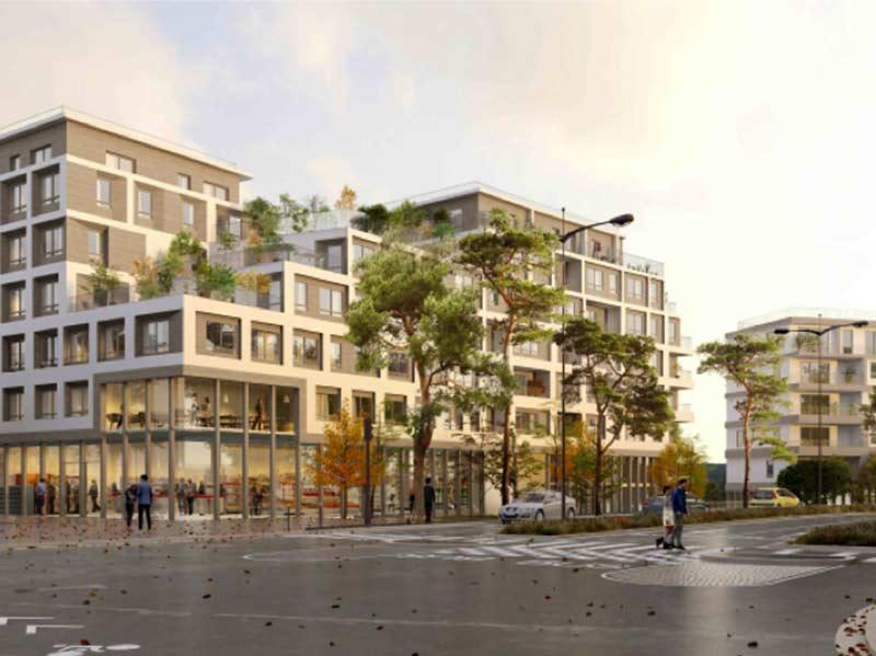 Plan de la façade de la ZAC Yèbles en Savoie, concours gagané par Korell - économiste de la construction