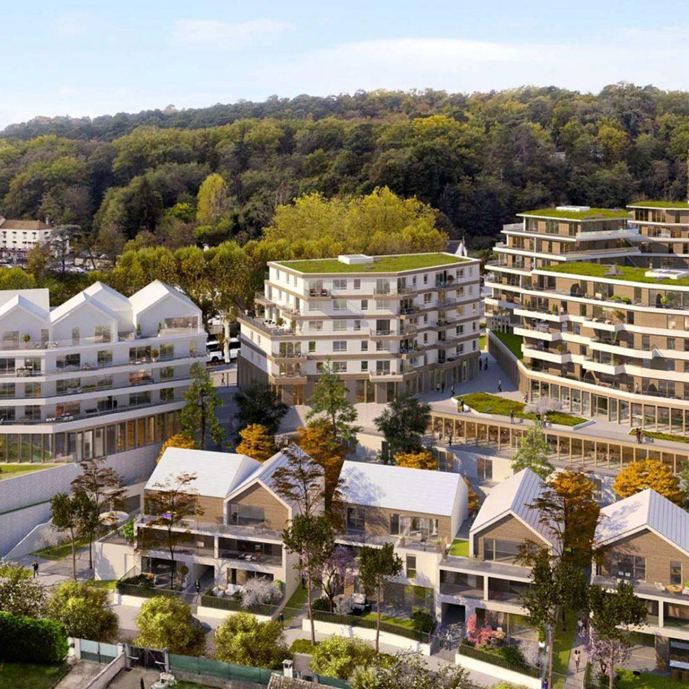 Image de plan de la future Zac des Yebles, concours gagné par Korell, société du groupe aw-eck, pour l'économie de la construction